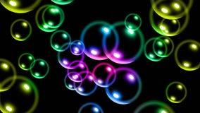 Fondo colorido de las burbujas que brilla intensamente Foto de archivo