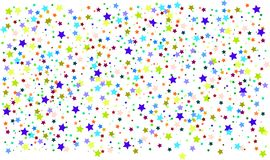fondo colorido de las estrellas, astronomía ilustración del vector