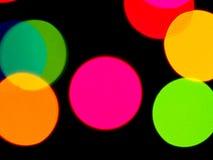 Fondo colorido de las luces fotografía de archivo