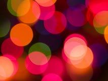 Fondo colorido de las luces fotos de archivo