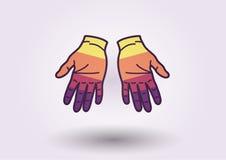 Fondo colorido de las manos Imagenes de archivo