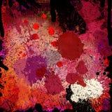 Fondo colorido de las salpicaduras Foto de archivo libre de regalías