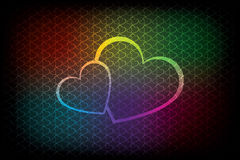 Fondo colorido de las tarjetas del día de San Valentín Imagen de archivo