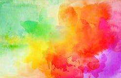 Fondo colorido de las texturas de la acuarela y del aguazo stock de ilustración