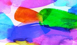 Fondo colorido de las texturas de la acuarela y del aguazo libre illustration
