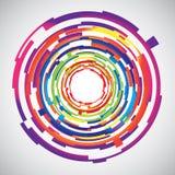 Fondo colorido de los círculos de la tecnología abstracta libre illustration