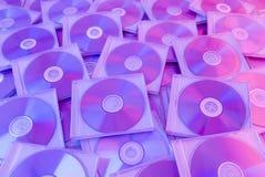 Fondo colorido de los compact-disc Fotografía de archivo