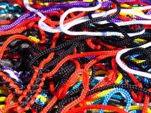 Fondo colorido de los cordones Imagen de archivo libre de regalías