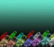 Fondo colorido de los cristales stock de ilustración