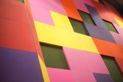 Fondo colorido de los cuadrados coloreados de diversos colores Fotos de archivo