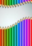 Fondo colorido de los lápices Fotografía de archivo libre de regalías