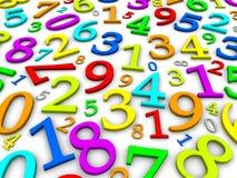 Fondo colorido de los números Imagen de archivo