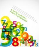Fondo colorido de los números Foto de archivo libre de regalías