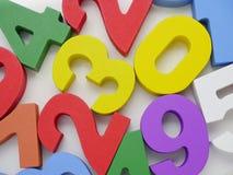 Fondo colorido de los números Fotografía de archivo
