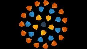 Fondo colorido de los rectángulos Lazo inconsútil móvil de los cubos coloridos libre illustration