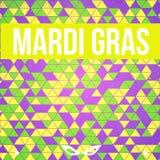 Fondo colorido de Mardi Gras del vector con la máscara Imagen de archivo