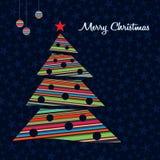 Fondo colorido del árbol de navidad de las rayas. Foto de archivo