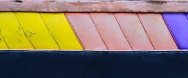 Fondo colorido del amarillo, rosado y azul de la textura del extracto fotografía de archivo libre de regalías