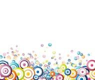 Fondo colorido del arco iris hecho de círculos Fotografía de archivo