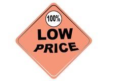 Fondo colorido 100% del blanco del botón del web del precio bajo Imagenes de archivo