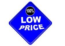 Fondo colorido 100% del blanco del botón del web del precio bajo Fotografía de archivo