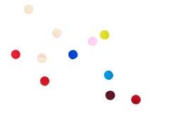 Fondo colorido del blanco del aislante del confeti ilustración del vector