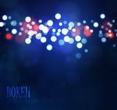 Fondo colorido del bokeh Ilustración del vector Imagenes de archivo
