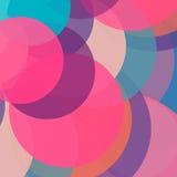 Fondo colorido del círculo Modelo abstracto Imagen de archivo