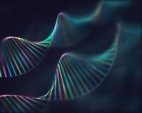 Fondo colorido del c?digo gen?tico de la DNA foto de archivo libre de regalías