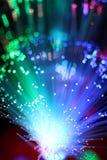 Fondo colorido del cable óptico de la red de la fibra Imagen de archivo