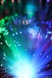 Fondo colorido del cable óptico de la red de la fibra Foto de archivo