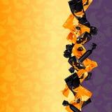 Fondo colorido del caramelo de Víspera de Todos los Santos stock de ilustración
