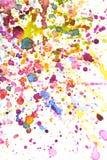 Fondo colorido del chapoteo del color de agua Foto de archivo libre de regalías