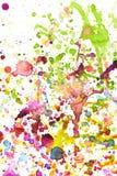 Fondo colorido del chapoteo del color de agua Imagen de archivo libre de regalías