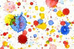Fondo colorido del chapoteo del color de agua Fotos de archivo