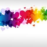 Fondo colorido del corazón Foto de archivo libre de regalías