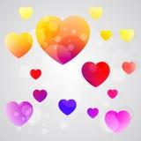 Fondo colorido del corazón Fotos de archivo