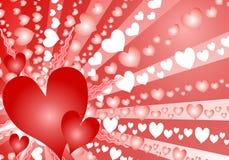 Fondo colorido del corazón del día de tarjeta del día de San Valentín Fotografía de archivo libre de regalías