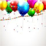 Fondo colorido del cumpleaños Fotografía de archivo libre de regalías