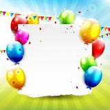 Fondo colorido del cumpleaños Imagenes de archivo
