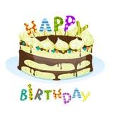 Fondo colorido del cumpleaños Fotos de archivo