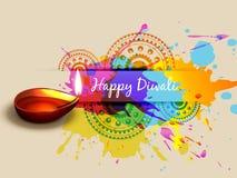 Fondo colorido del diwali ilustración del vector