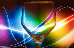 Fondo colorido del extracto de la copa de vino Foto de archivo libre de regalías