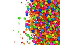Fondo colorido del extracto del cubo Fotos de archivo