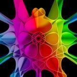 fondo colorido del fractal 3D Imagen de archivo libre de regalías