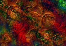 Fondo colorido del giro rojo abstracto libre illustration