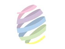 Fondo colorido del huevo de Pascua en blanco Fotografía de archivo