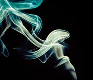 Fondo colorido del humo Fotos de archivo