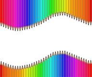 Fondo colorido del lápiz del arco iris, papel pintado, vector Foto de archivo