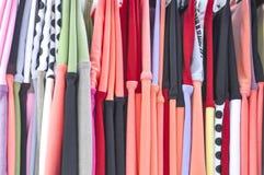 Fondo colorido del mantón de la tela de materia textil Fotografía de archivo